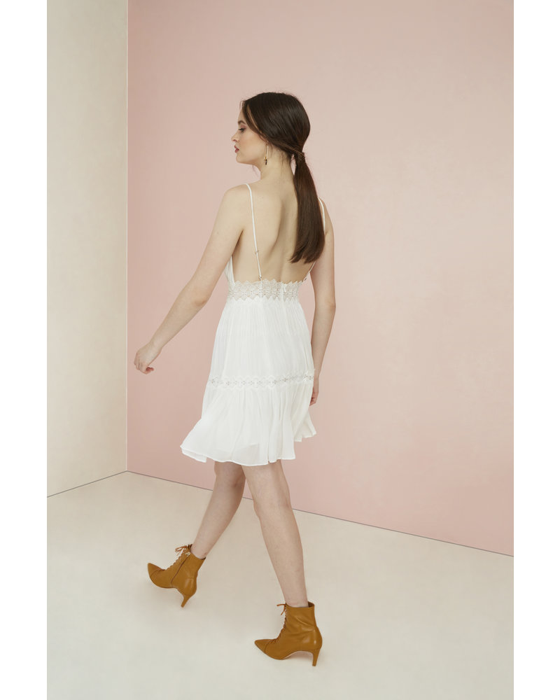 Magali Pascal Camille Mini Dress - Off White XS