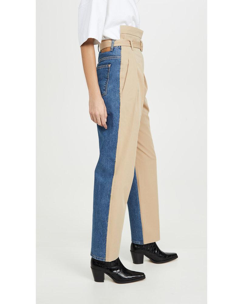 Pushbutton Pintuck mixed Jean
