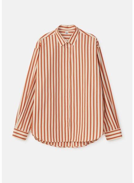 Totême Lago shirt - Orange Stripe - size L