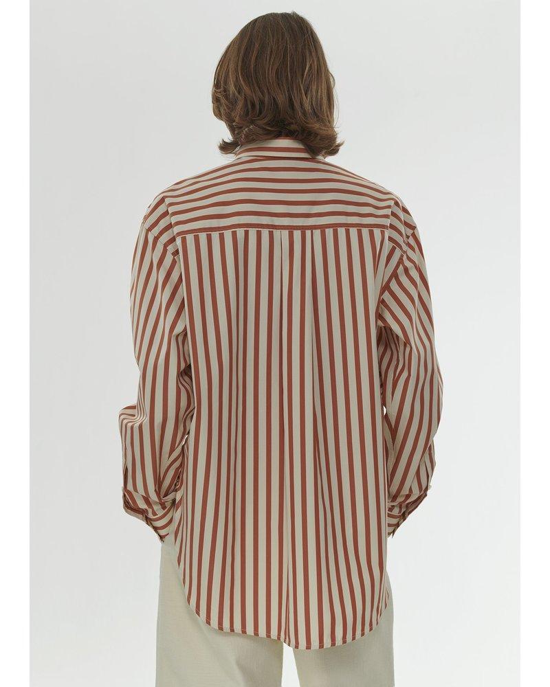 Totême Lago shirt - Orange Stripe