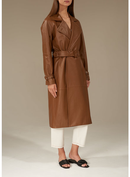 Le Brand Leather trench - Toffee