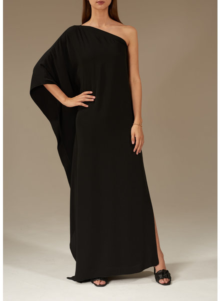 Le Brand Asymmetric maxi dress - Black