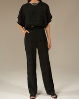 Le Brand Cotton Porter top - Black