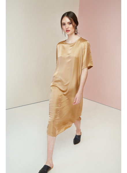 Magali Pascal Sakura Dress - Gold - size L