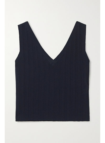 Le 17 Septembre Ribbed top - Navy