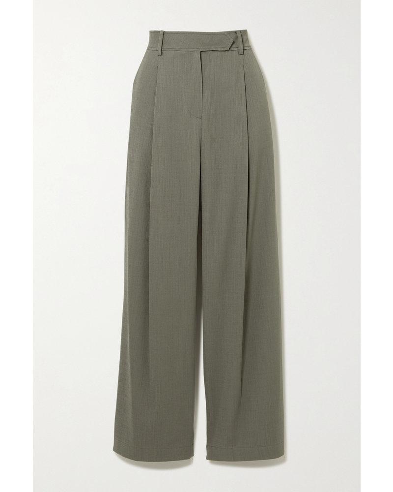 Le 17 Septembre Tuck pants - Khaki