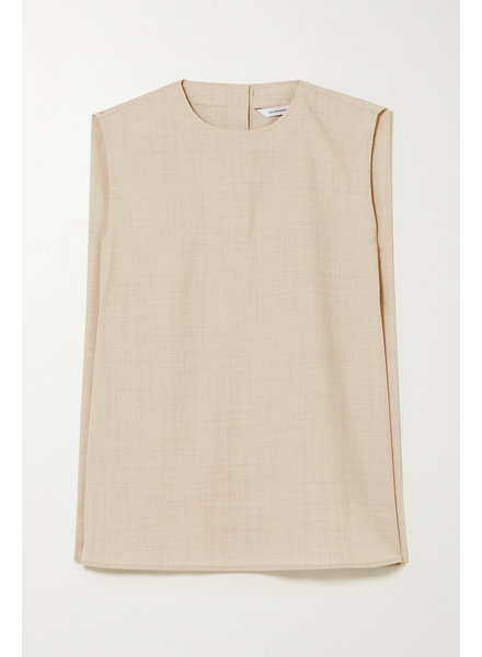 Le 17 Septembre Wool sleeveless blouse - Beige