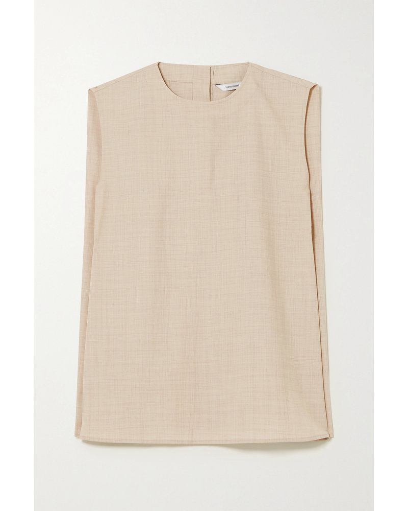 Le 17 Septembre Wool sleeveless blouse - Beige