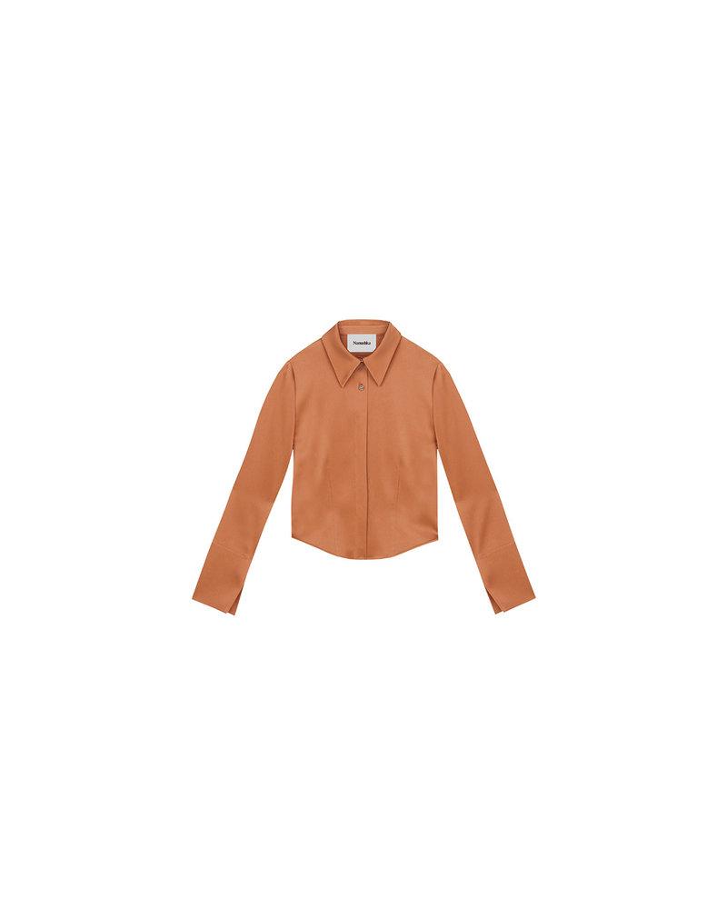 Nanushka Alice shirt - Apricot
