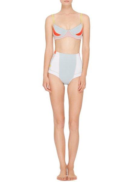 Cynthia Rowley Candy Blue Pink Peach bikini