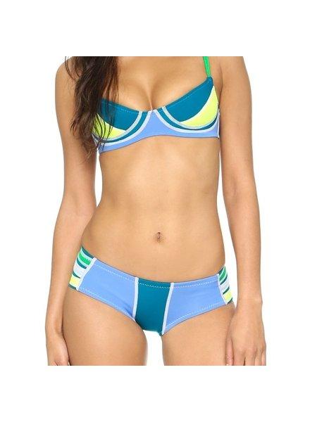 Cynthia Rowley Navy AcidBlue Lemon Bikini - size L