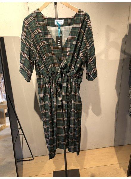 Libertine Libertine Drum dress - Green Check