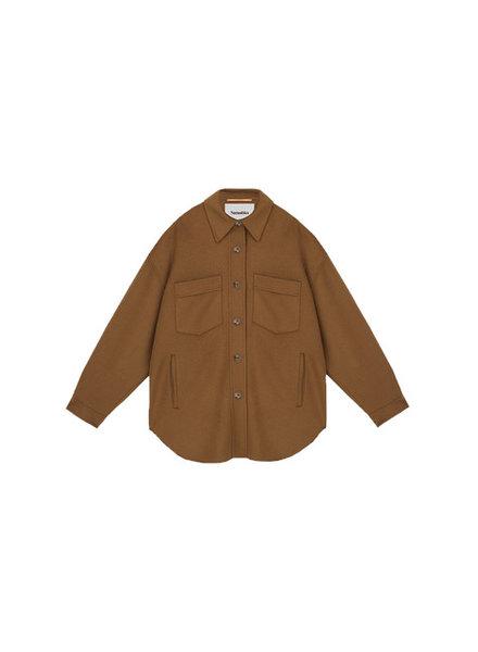 Nanushka Martin Jacket - Light Brown - size S