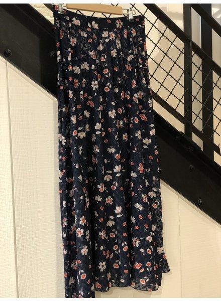 Libertine Libertine Hook Skirt - Navy Flower - size XS
