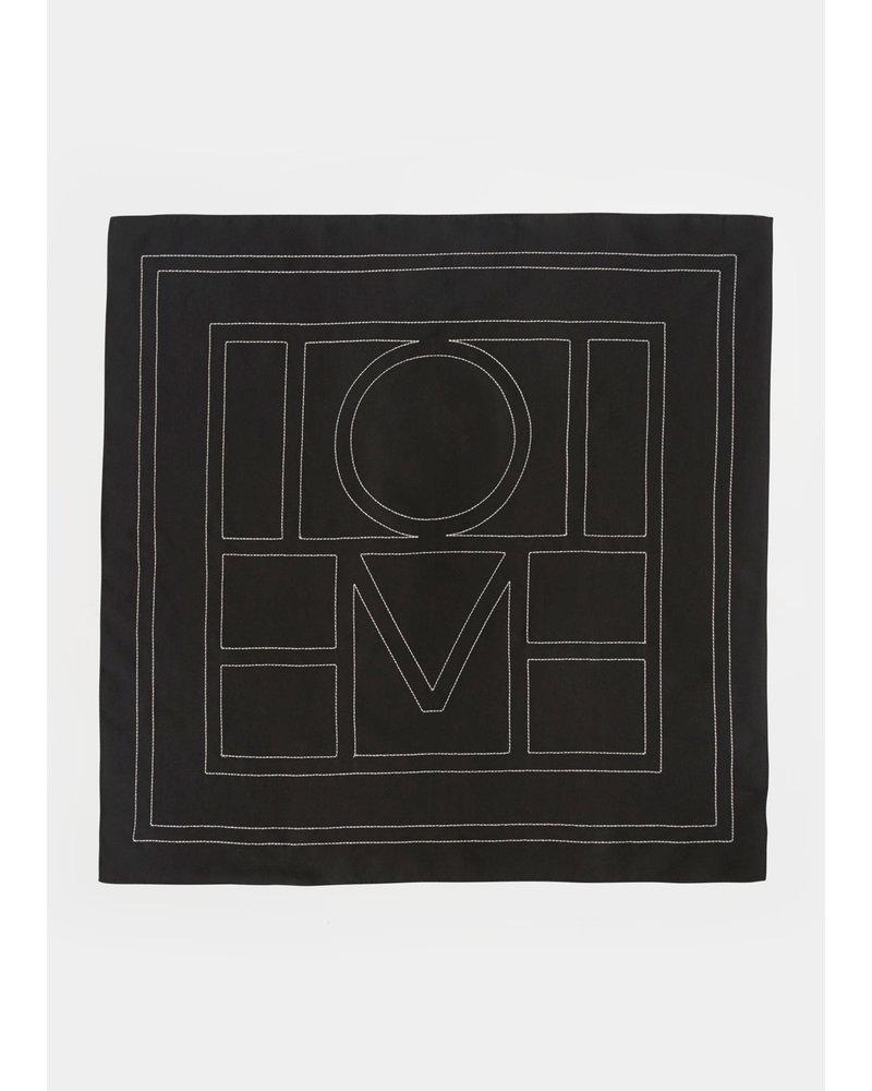 Totême Pantelleria scarf - Black creme