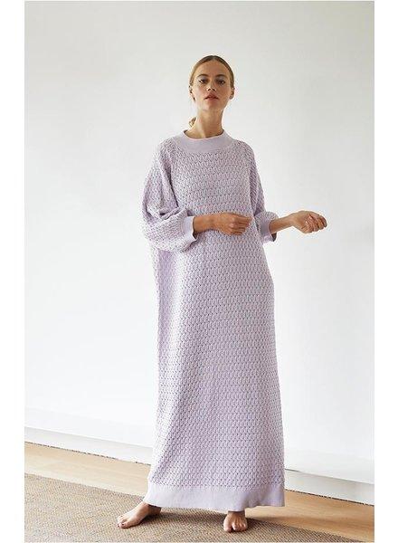 I Love Mr Mittens Maxi Lace Dress - Lilac