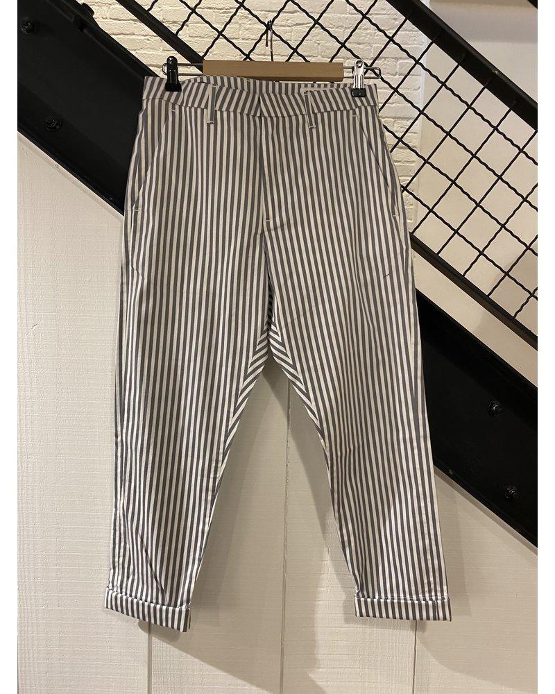 Hope News Trouser - Grey Stripe