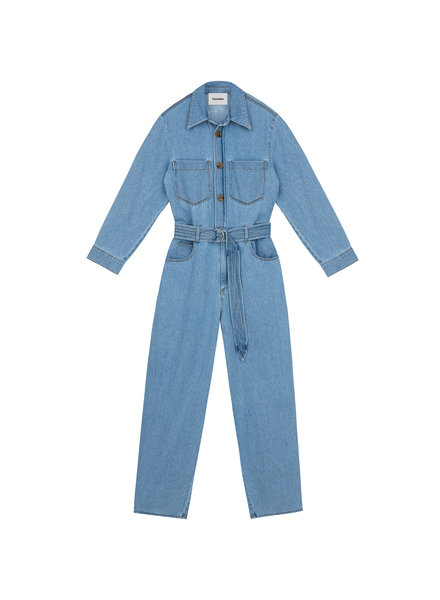 Nanushka Lennon jumpsuit - Light Blue