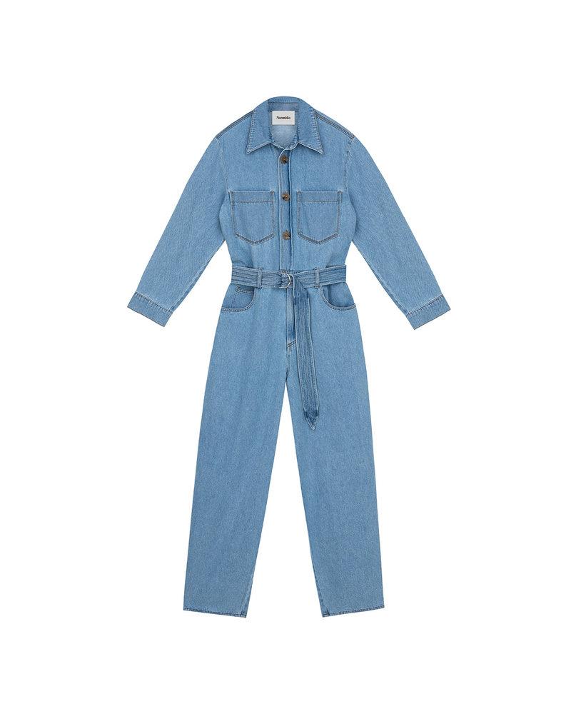 Nanushka Lennon jumpsuit - Light Blue