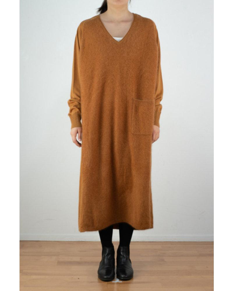 CT Plage V neck dress - Dark Orange