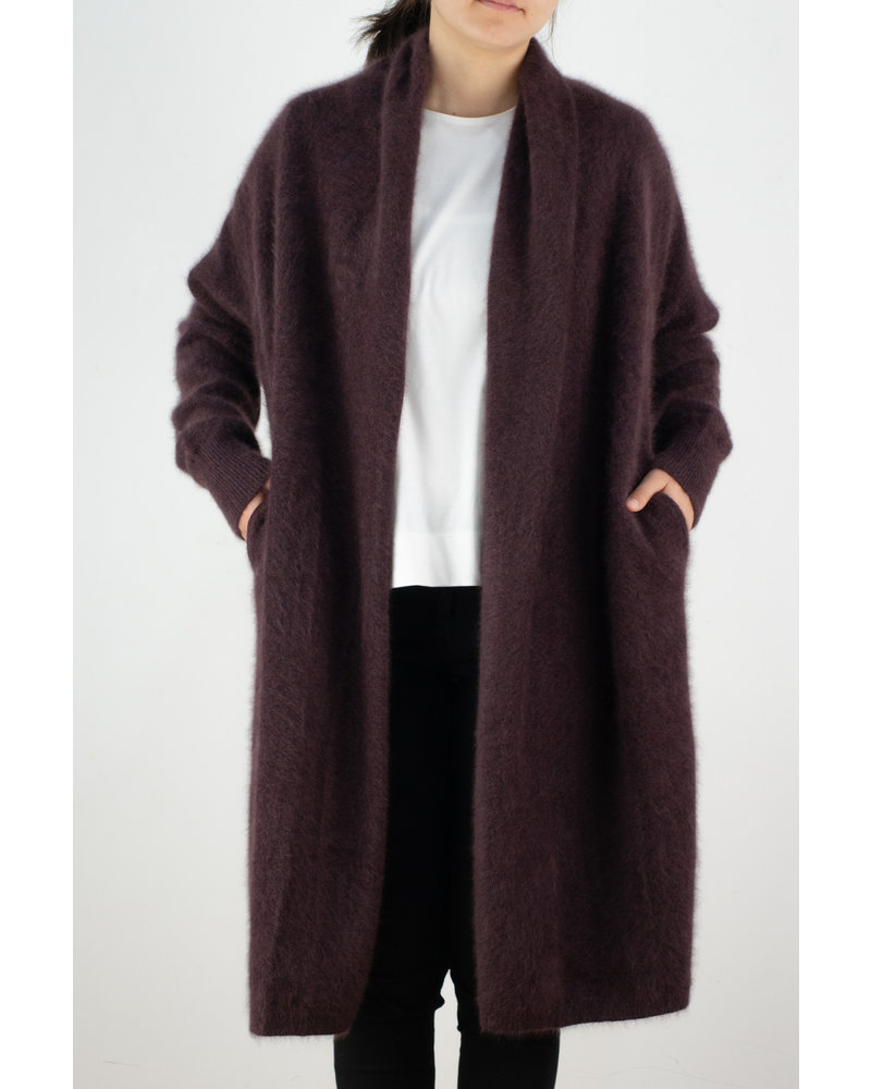 CT Plage Raccoon cardigan - Bordeaux