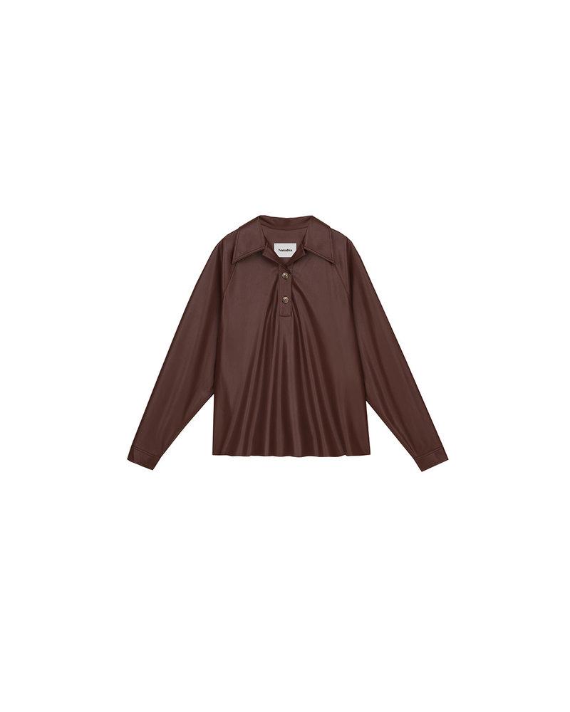 Nanushka Keiron shirt - Plum chutney