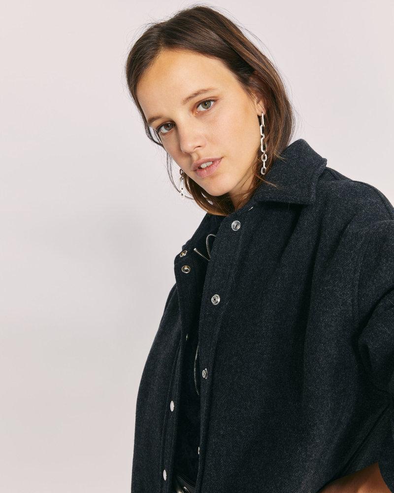 Iro Luan coat - Antracite