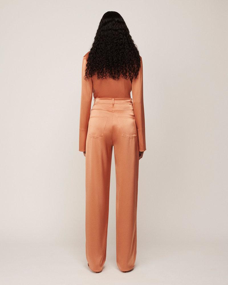 Nanushka Drew Maxi Pants - Apricot