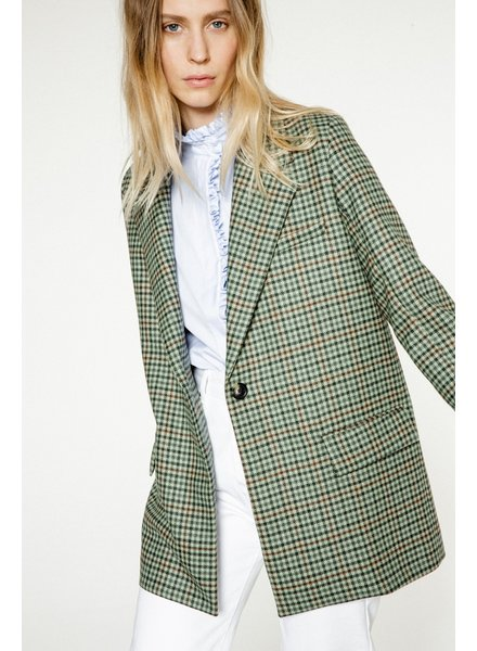 Margaux Lonnberg Norton Jacket - Green Check