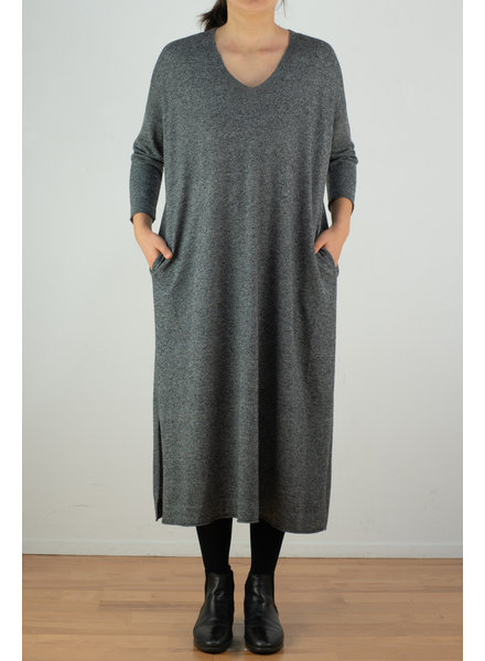 CT Plage Gauge wool Vneck dress - Mix