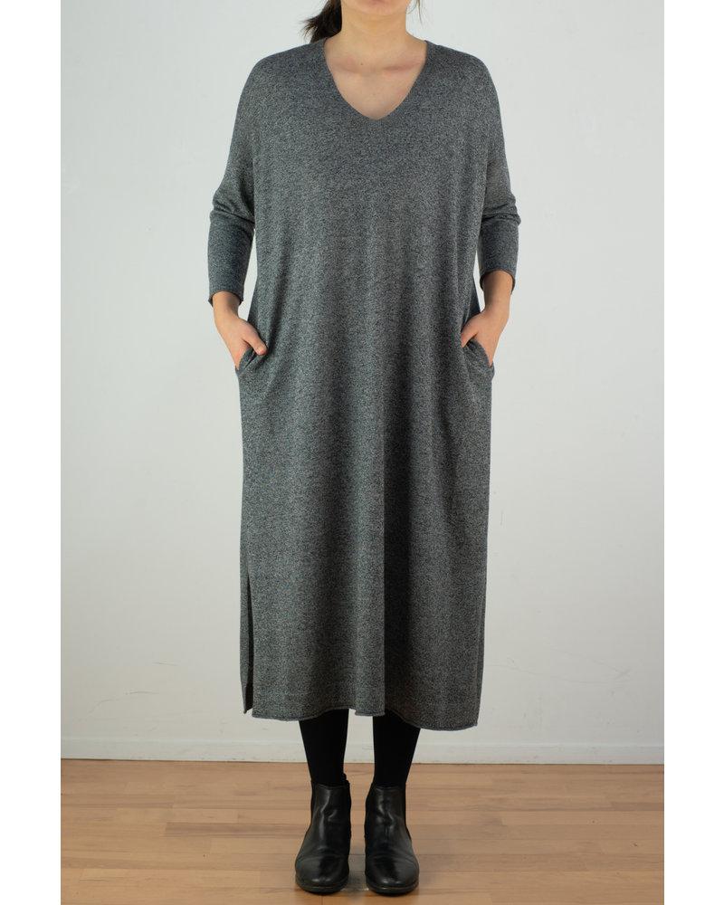 CT Plage Gauge wool Vneck dress - Mix