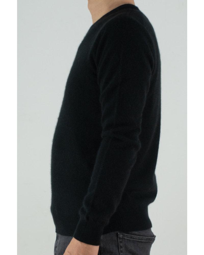 CT Plage UNISEX Cashmere round pullover - Black