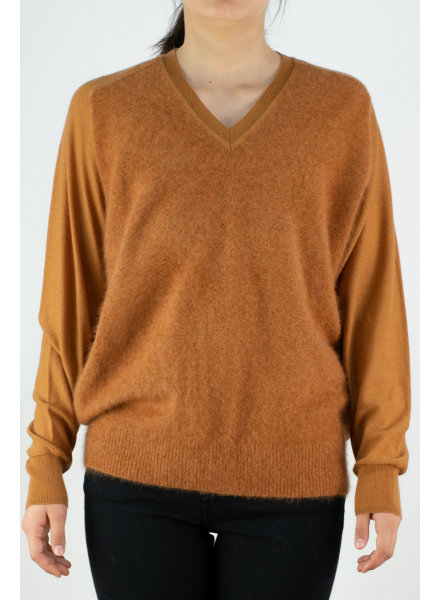 CT Plage UNISEX  Vneck combo - Dark Orange