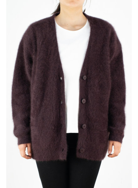 CT Plage Raccoon cardigan vneck - Bordeaux