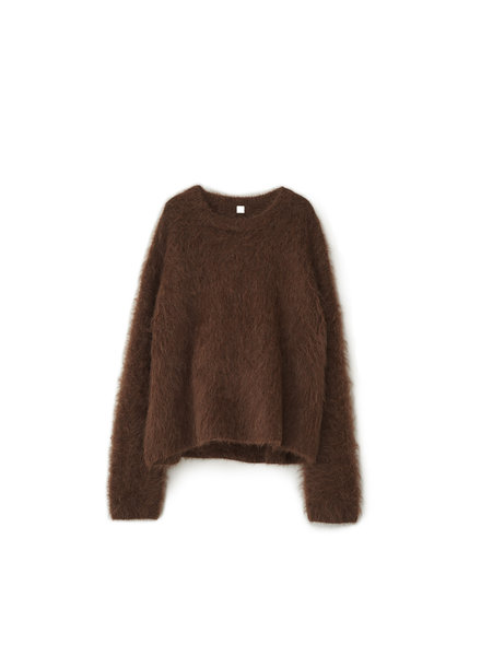 Totême Biella alpaca sweater - Walnut