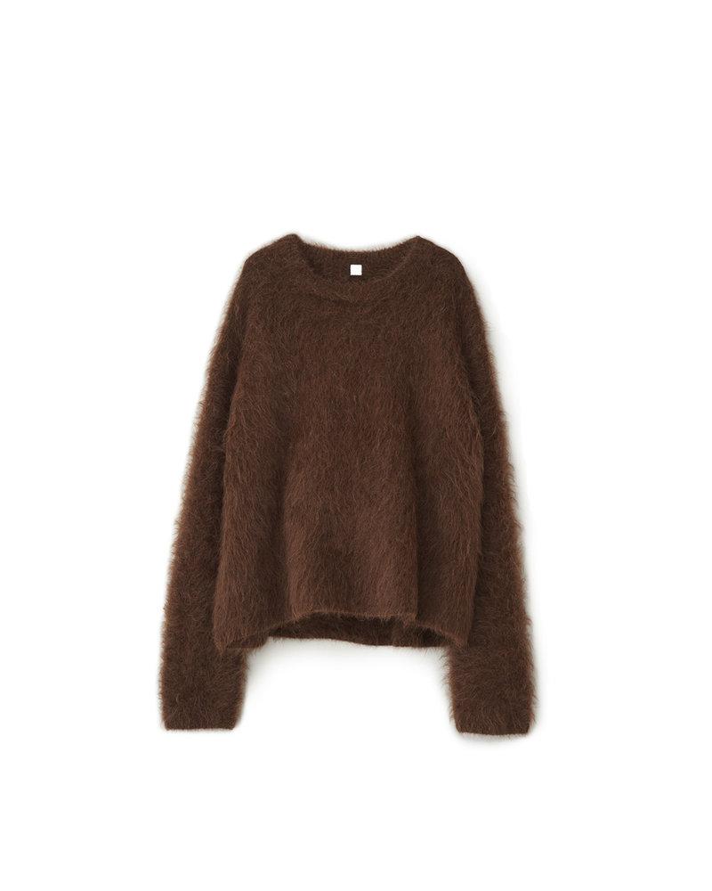 Totême Biella alpaca sweater - Walnut