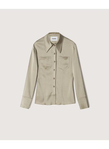Nanushka Tippi shirt - Sage