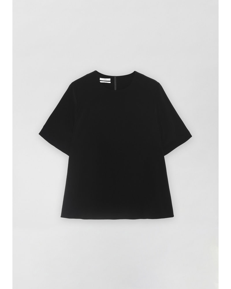 CO T-Shirt in Stretch Crepe - Black