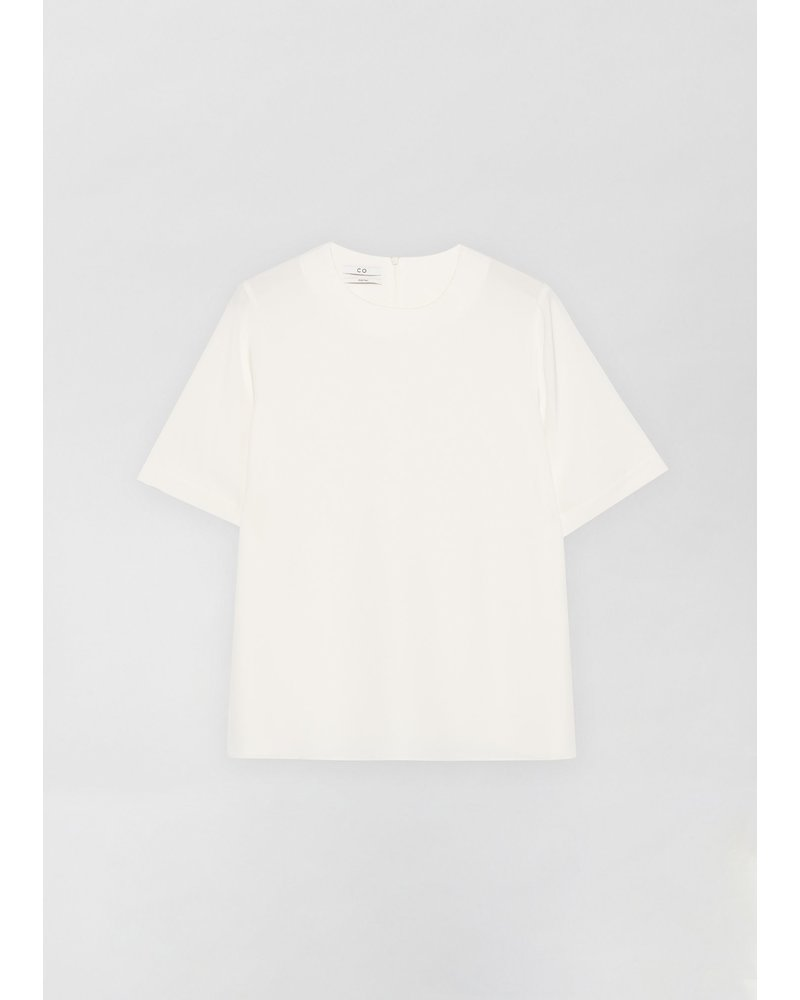 CO T-Shirt in Stretch Crepe - Ivory