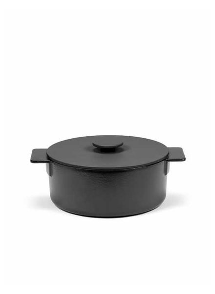 Surface by Sergio Herman Pot Enamel L - Black - Surface -D26