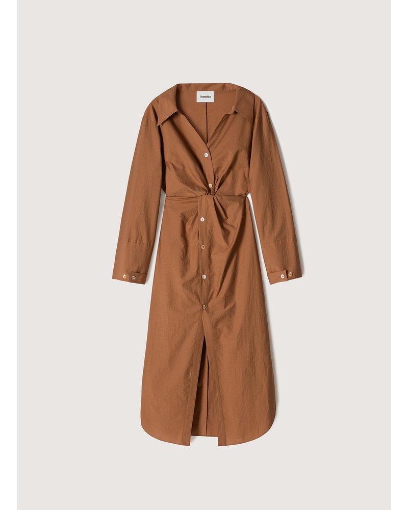 Nanushka Ayse dress - Rust
