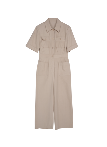 Blossom B Cotton jumpsuit - Beige