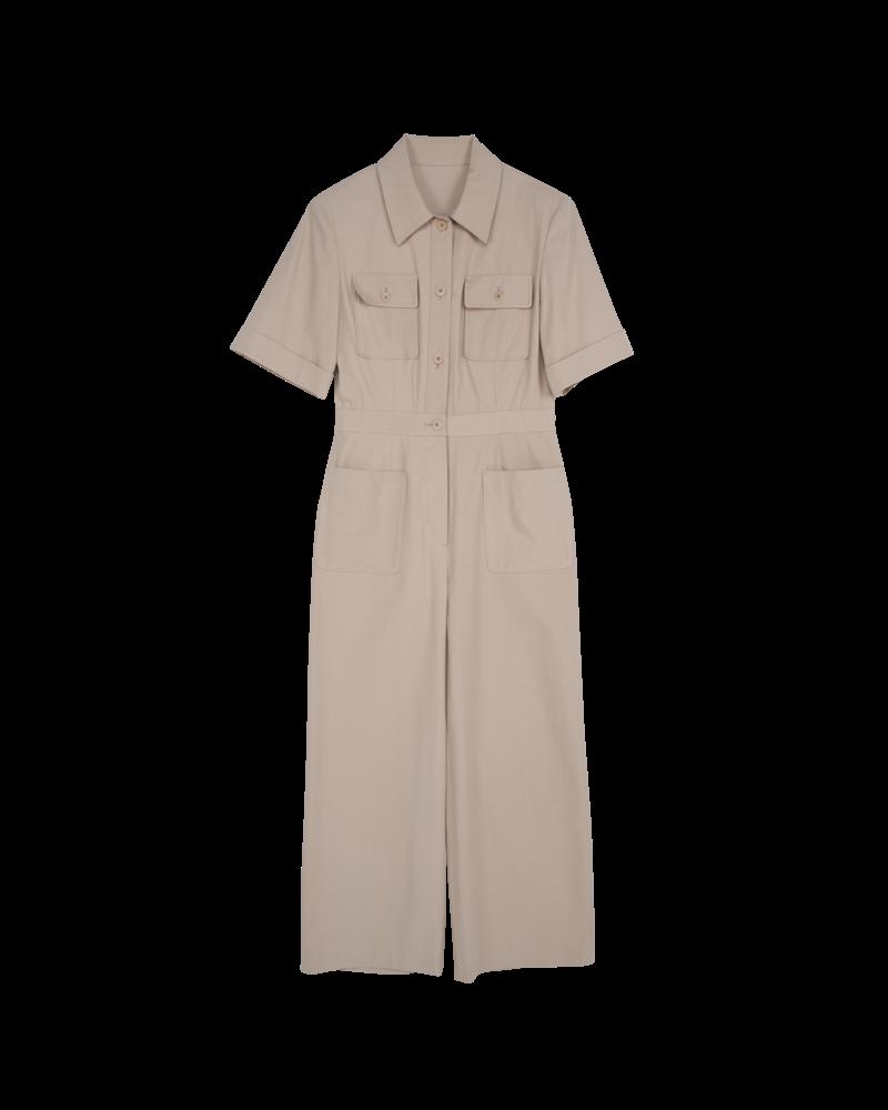 Blossom B Cotton jumpsuit - Beige