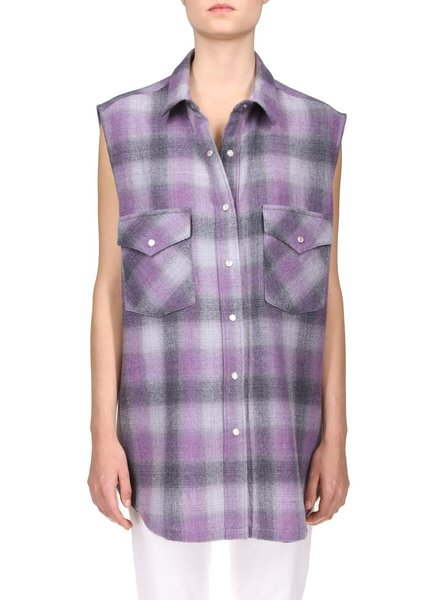 Iro Done shirt - Purple/Grey