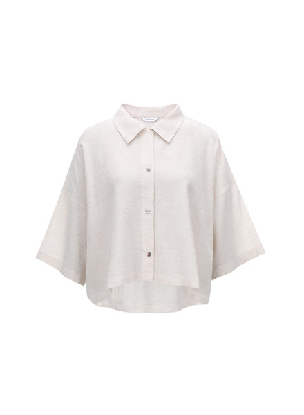 Le 17 Septembre Collar Crop Shirt - Ivory