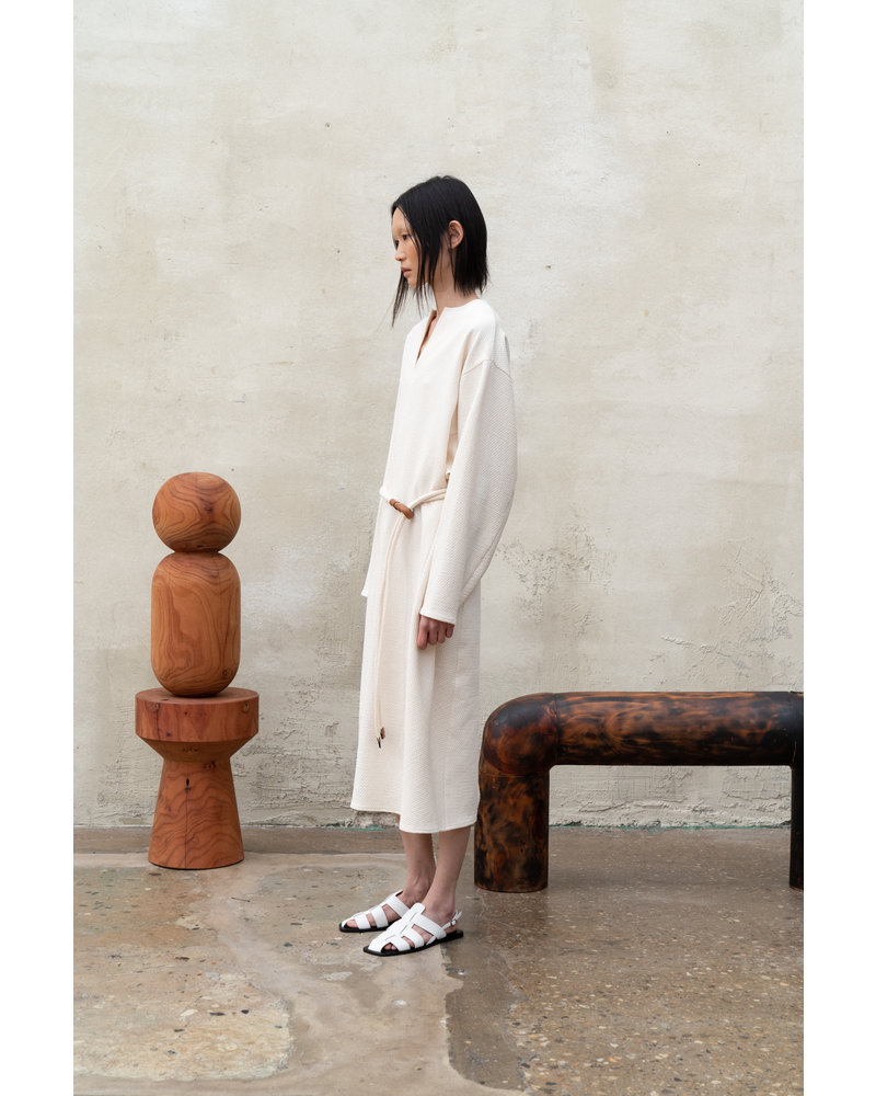 Le 17 Septembre Waist Belted Dolman Onepiece - Ivory