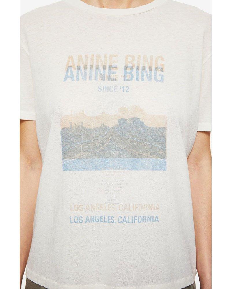 Anine Bing Harper Tee Desert Road - White