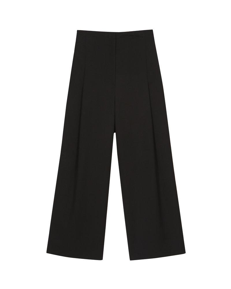 The Loom Wool Tapered Pants - Black