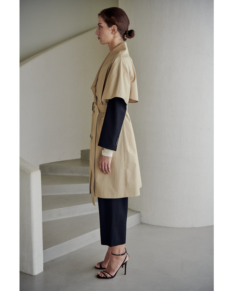 The Loom Lowneck Trench cape - Light Beige