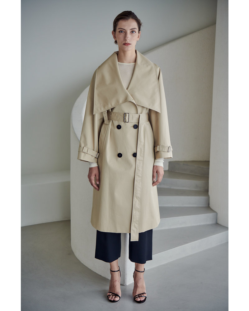 The Loom Lowneck Trench coat - Light Beige